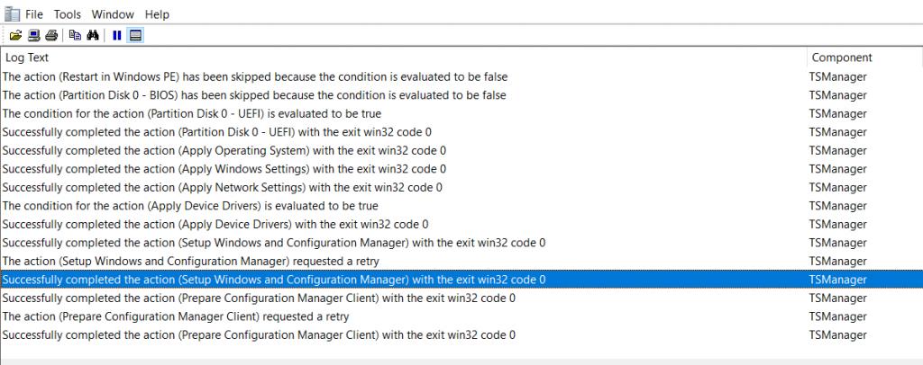SCCM OSD SMSTS Log File Reading Tips   ConfigMgr   MEMCM