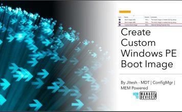 Create Custom Windows PE Boot Image