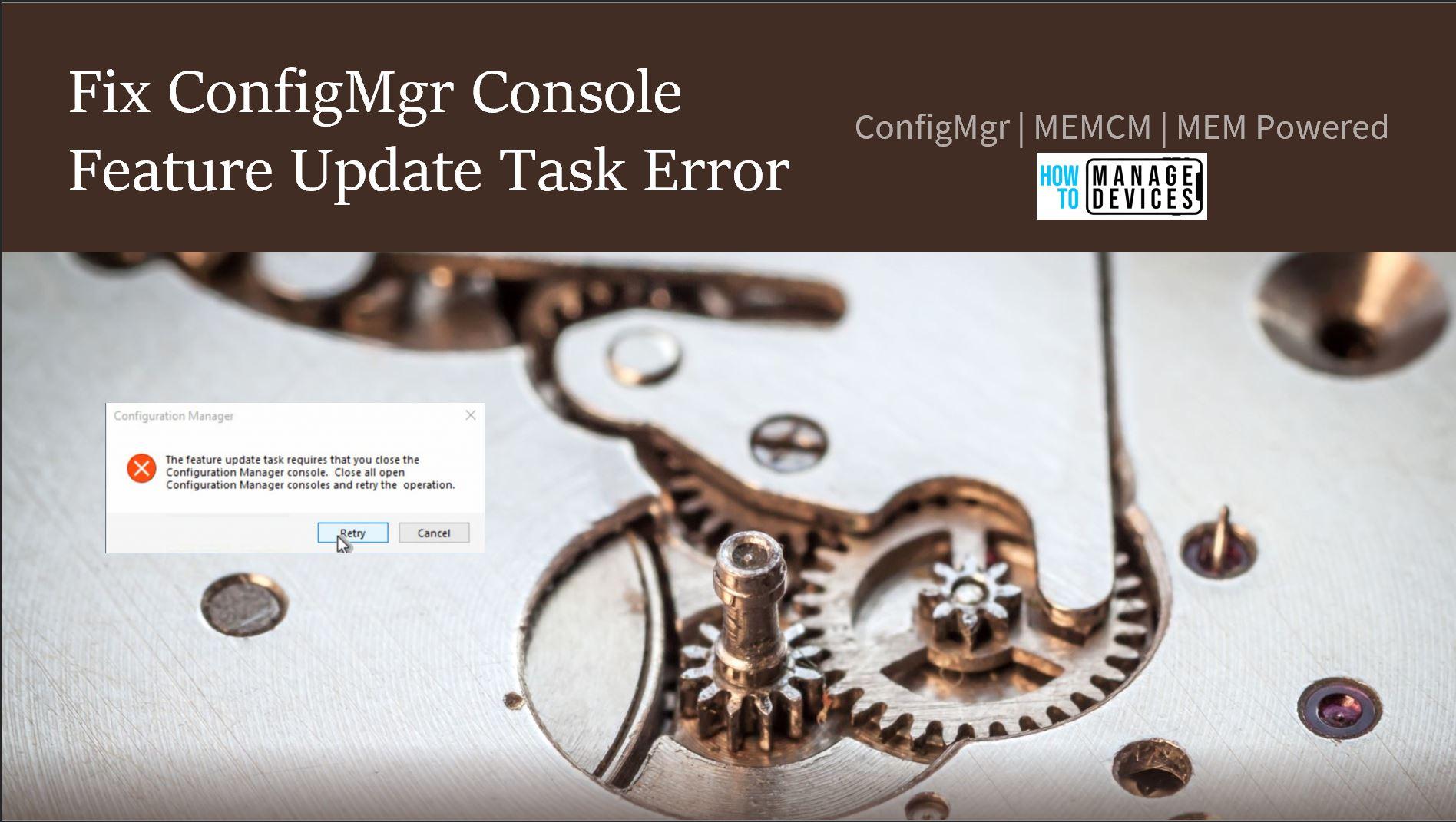 Fix ConfigMgr Console