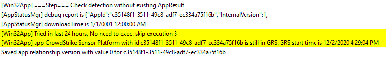 Override GRS: Trigger IME to retry failed Win32 App deployment - IME skips an app execution if it has failed for previous 3 attempts and is hence blocked by Intune GRS