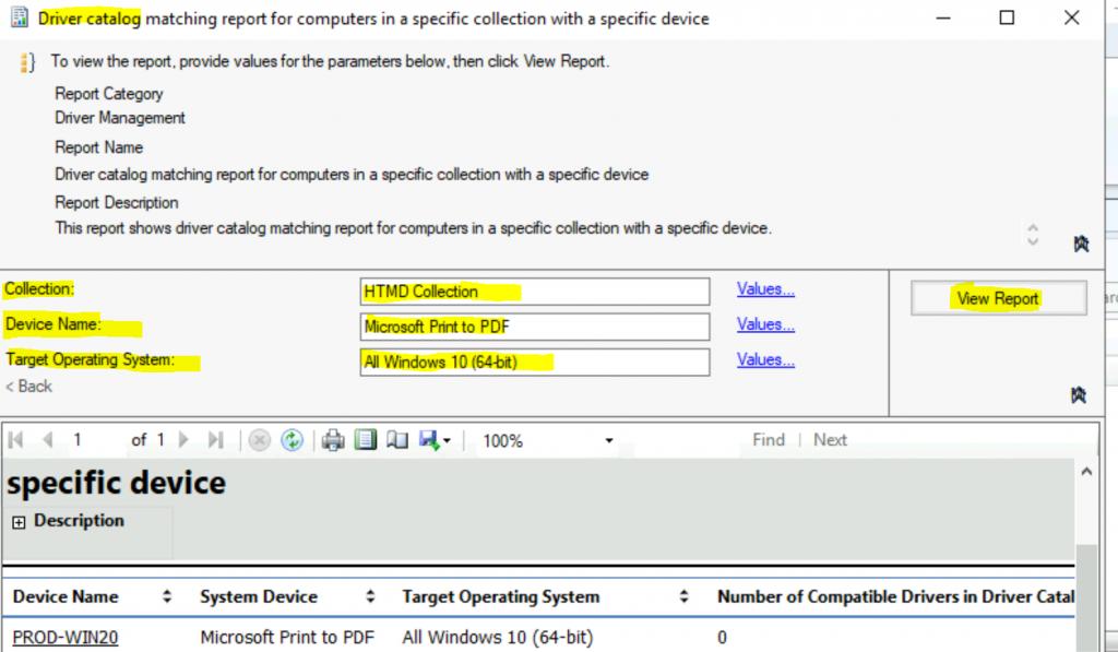 ConfigMgr Driver Management Reports | SCCM | Default