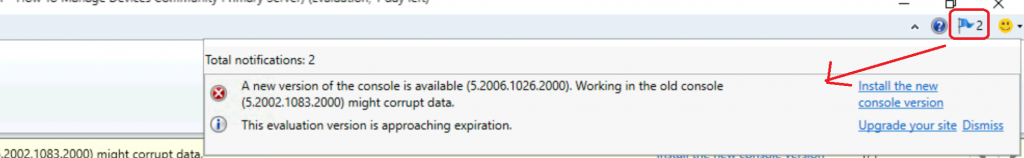 SCCM Console Notification Option in Action for ConfigMgr 2010 1