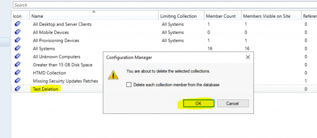 SCCM 2010 Only Full Administrator can Delete Collections ConfigMgr - SCCM 2010 Workaround to Delete Collections Issue ConfigMgr