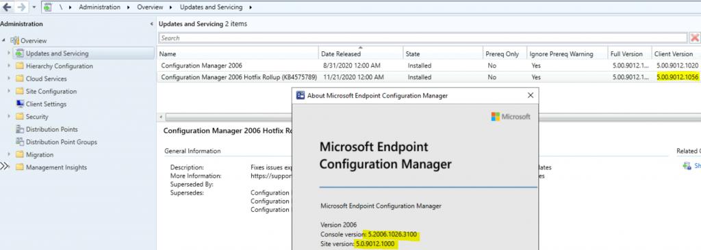 SCCM 2006 Revised Update Rollup Hotfix KB4575789 ConfigMgr 1