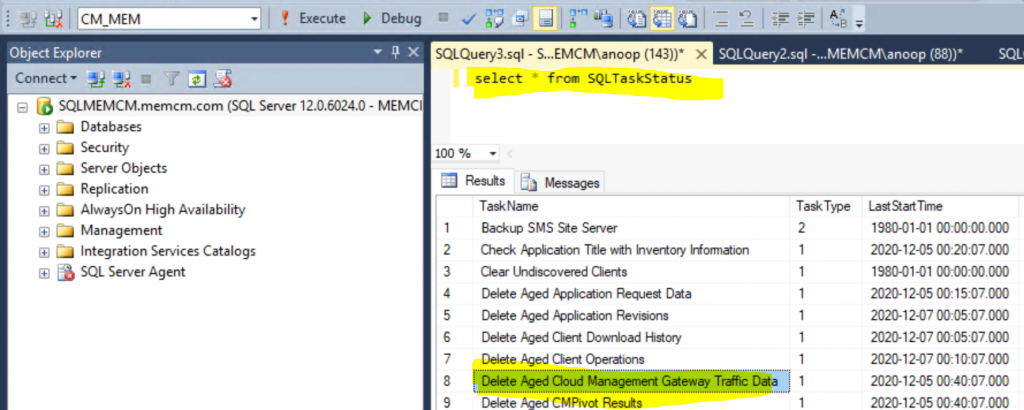 ConfigMgr Delete Aged Cloud Management Gateway Traffic Data Task | SCCM