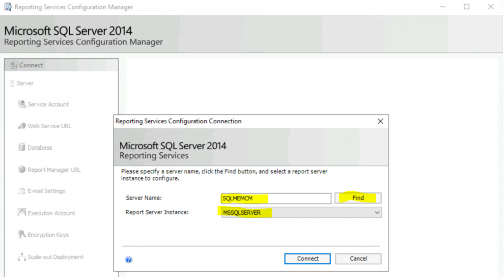 Fix Report Server cannot Open a Connection Error ConfigMgr | SCCM