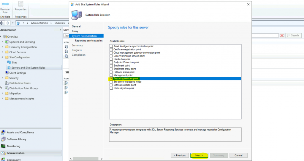 Install ConfigMgr SSRS Reporting Services Point | SCCM 1