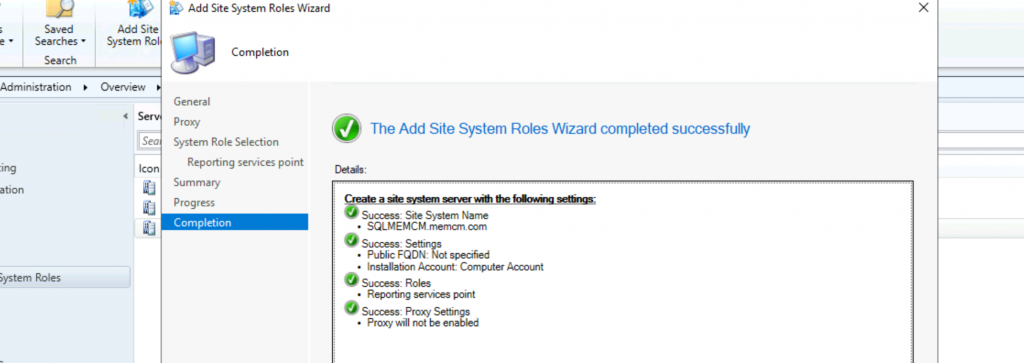 Install ConfigMgr SSRS Reporting Services Point | SCCM 4