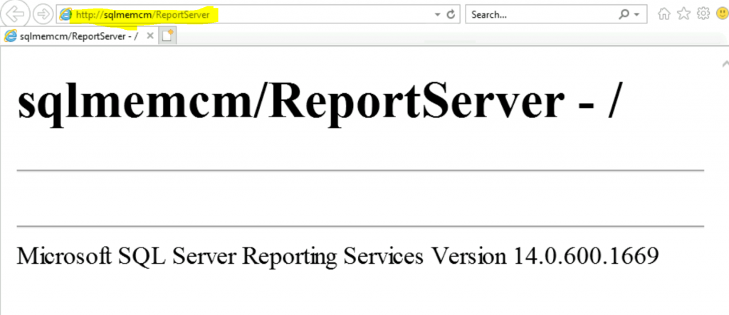 ConfigMgr Create a New Database for SSRS Reporting Service 2