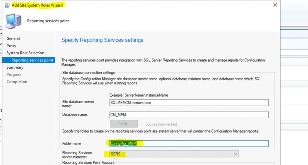 Install ConfigMgr SSRS Reporting Services Point | SCCM 2