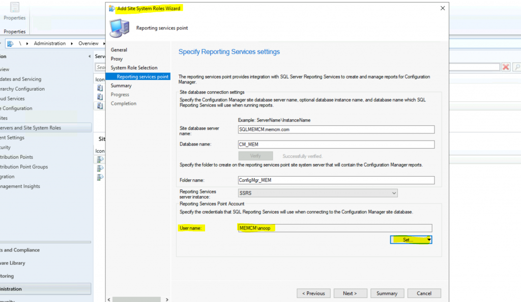 Install ConfigMgr SSRS Reporting Services Point | SCCM 3