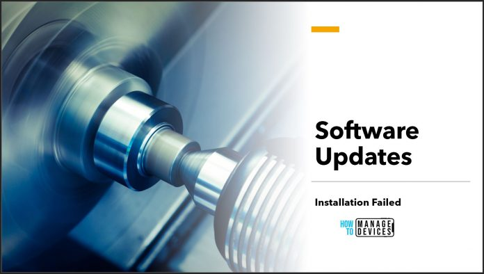 Fix Software Updates Error