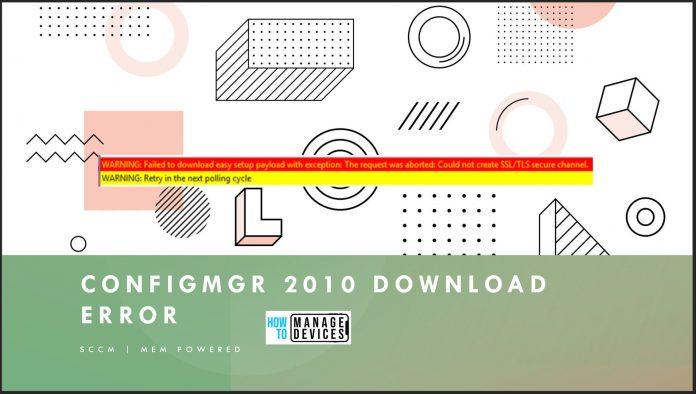 SCCM 2010 Update Download Error