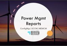 SCCM Power Management Reports