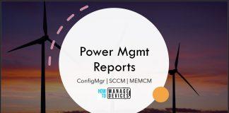 SCCM Power Management Reports