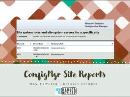 SCCM Site Reports