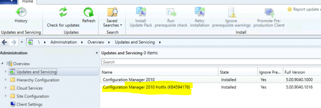 ConfigMgr 2010 Known Issues Fixes | SCCM