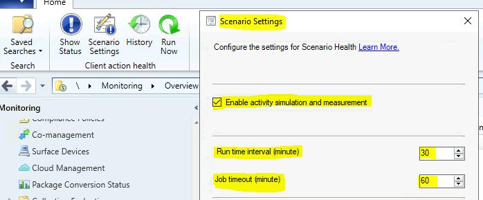 ConfigMgr Scenario Health Checks | SCCM