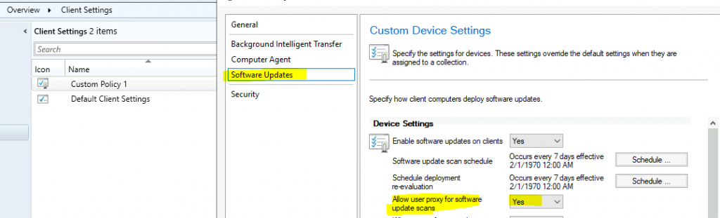 ConfigMgr Allow User Proxy for Software Update Scans | SCCM