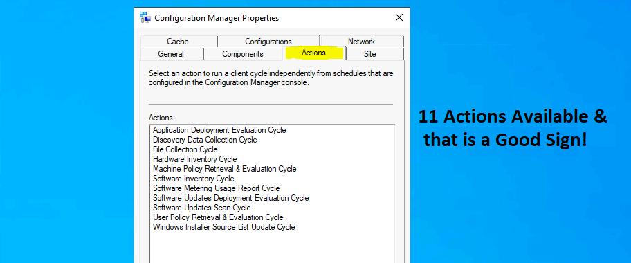 ConfigMgr Client Component Status | Installed | Enabled | Disabled | SCCM