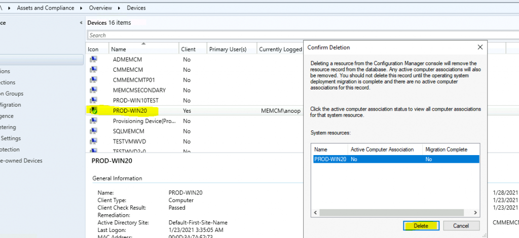 ConfigMgr Client Action Discovery Data Collection Cycle | SCCM