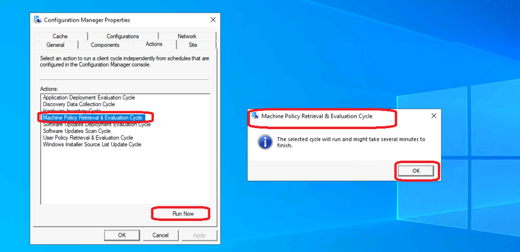 Machine Policy Request & Evaluation Cycle | Client Action | SCCM | ConfigMgr