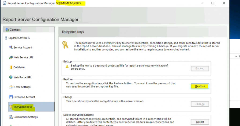 ConfigMgr Integrate Power BI Reporting Server with SCCM 7