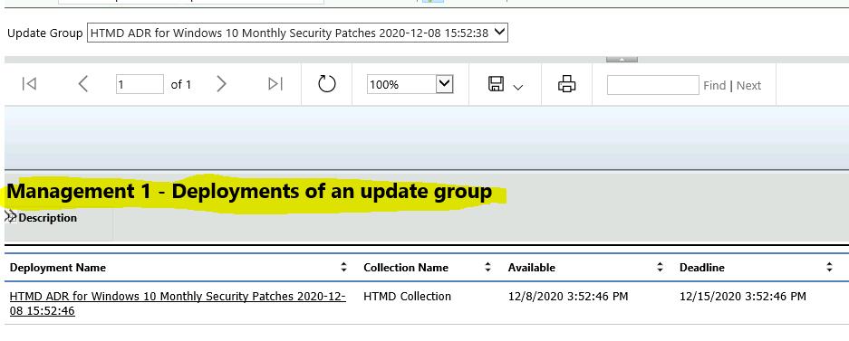 ConfigMgr Software Updates Reports | Default | SCCM