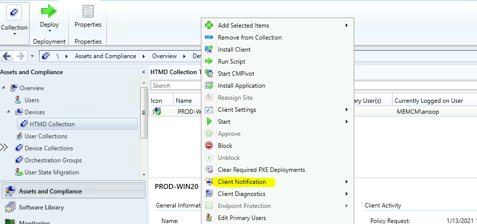 Fix ConfigMgr Client Notifications sent to all Collection Members Issue SCCM 2010 Hotfix