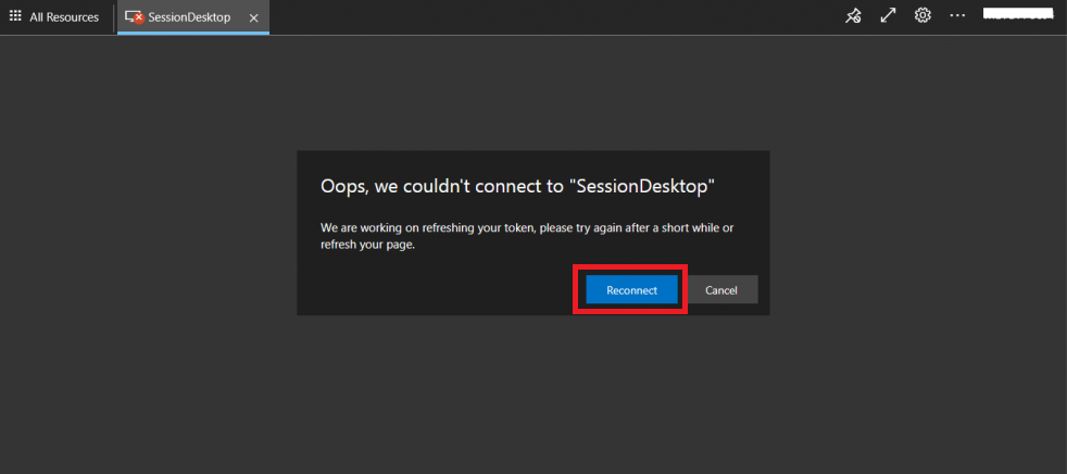 Fix WVD Refreshing Your Token Error | Couldn't Connect to Session Desktop