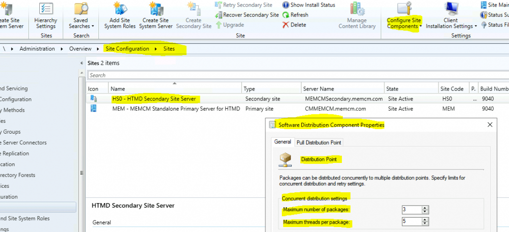 ConfigMgr Server Side Bandwidth Management Options | SCCM