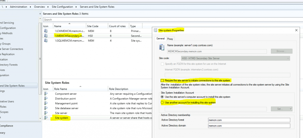 SCCM Untrusted Forest Issues Require the Site server to Initiate Connection ConfigMgr MEMCM