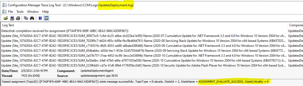 ConfigMgr Software Updates Deployment Evaluation Cycle | Client Action | SCCM