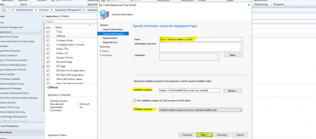 Create and Deploy Zoom Application using SCCM | ConfigMgr for Windows 10 Devices
