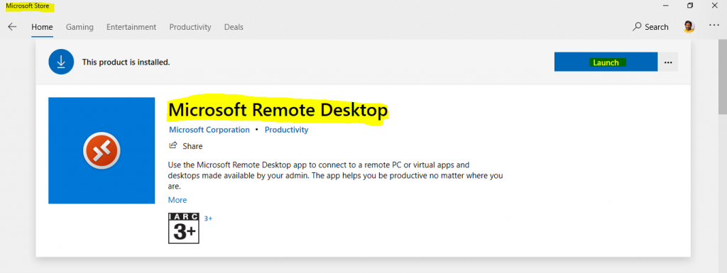 How to Use Microsoft Store Remote Desktop App WVD