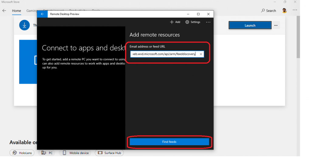 WVD Workspace URL | How to Use Microsoft Store Remote Desktop App 8