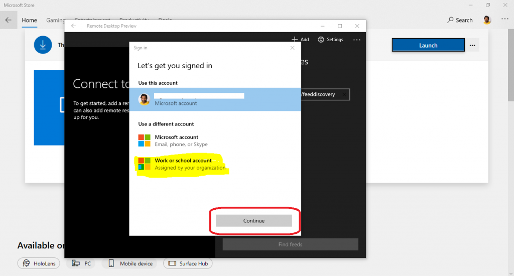 WVD Workspace URL | How to Use Microsoft Store Remote Desktop App 9
