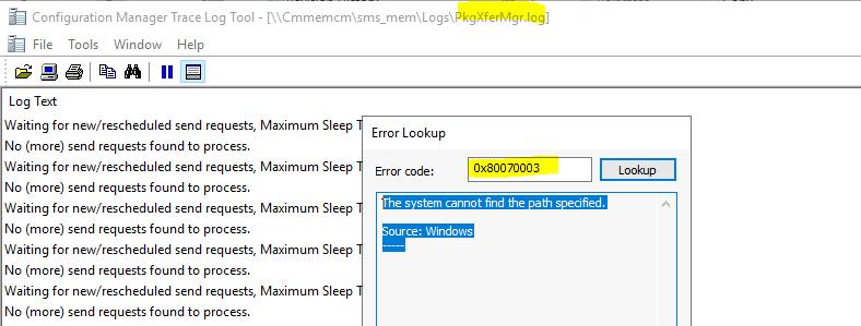 Fix SCCM SendFiles Failed 0x80070003 Error | ConfigMgr 1