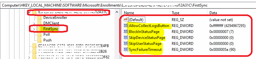 Disable Intune ESP for WVD | FirstSync Registry Entries | Event Logs | Troubleshooting