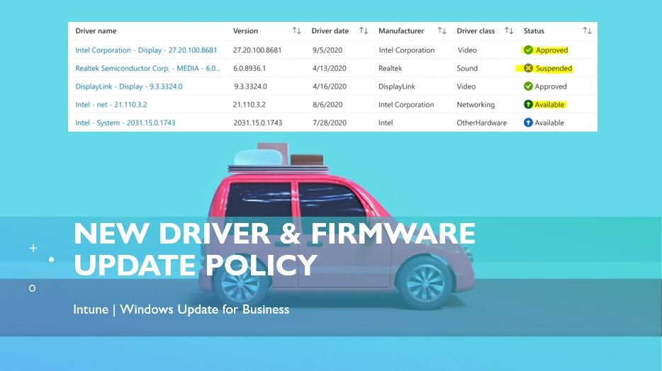 Driver Firmware Update Policy