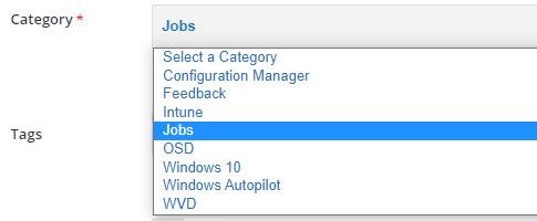 How to Post SCCM Intune Jobs on HTMD Community Forum | HTMD Mobile App