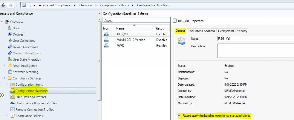 Device Configuration Workload Switch ConfigMgr Co-Management | SCCM