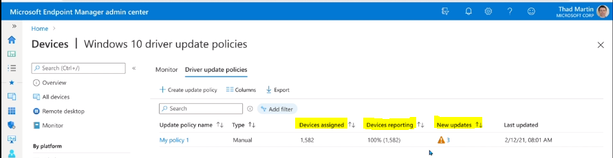 Intune Driver Firmware Update Policies | Review Approve Schedule Suspend Options - Pic Credits to Microsoft
