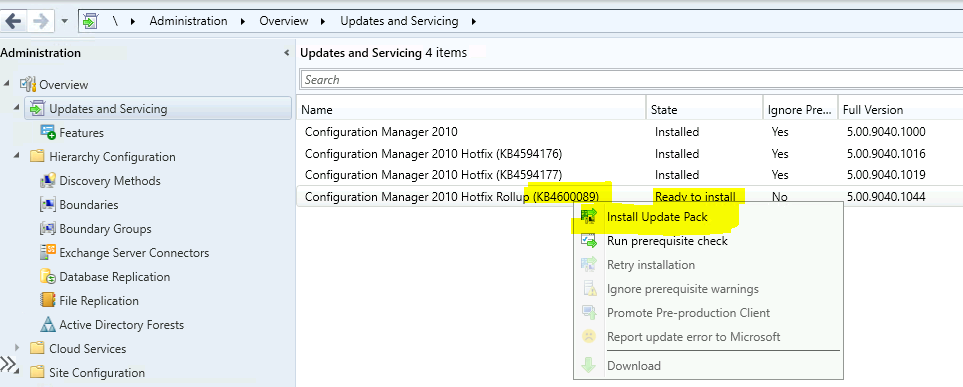 28 Issues Fixed with ConfigMgr 2010 Update Rollup Hotfix KB4600089 | SCCM