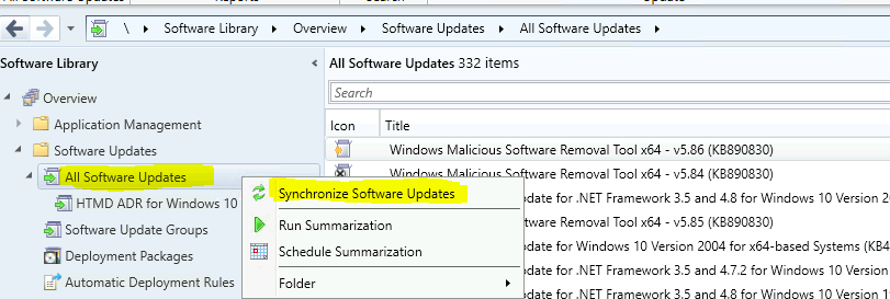 WVD Windows 10 Multi-Session Patching with SCCM   ConfigMgr   Product Selection