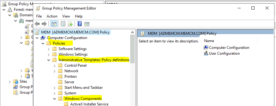Intune Enrollment using Group Policy   Automatic Enrollment AVD VMs