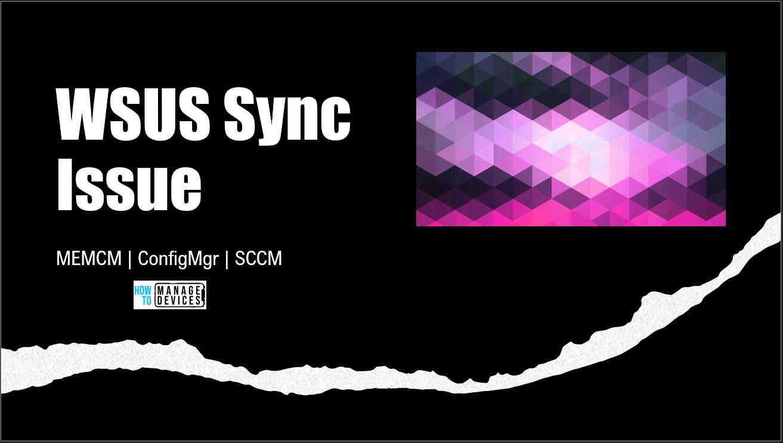 WSUS Sync Issue