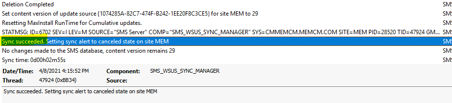Fixed - SCCM WSUS Sync Failed with UssInternalError SoapException Error 0x80131500 | ConfigMgr 1