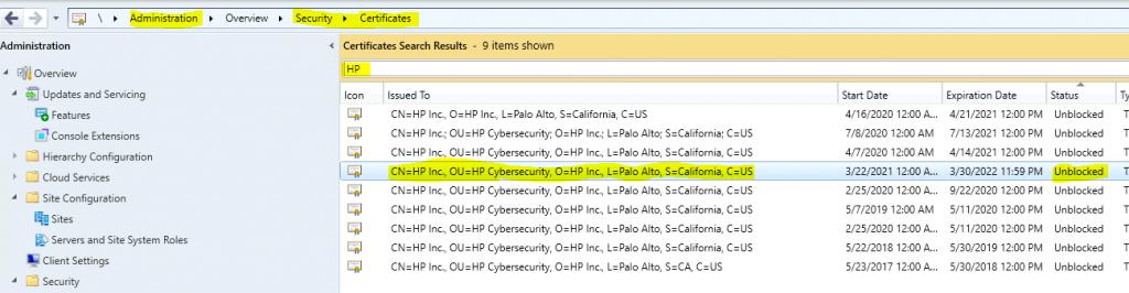 HP catalog Cert Unblocked