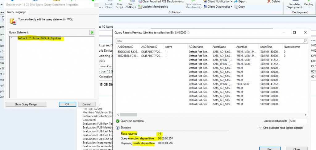 SCCM Collection Query Preview Tool | WQL | ConfigMgr
